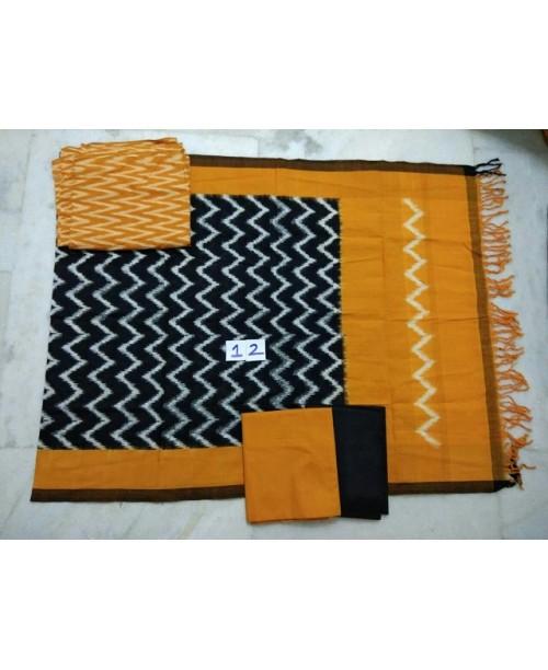 Double Ikat Cotton Suit 0002