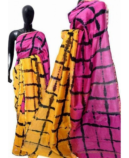Chanderi Block print saree(OUT OF STOCK)