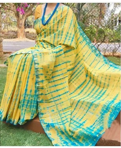 Chanderi Cotton Silk Shibori Sare(OUT OF STOCK)